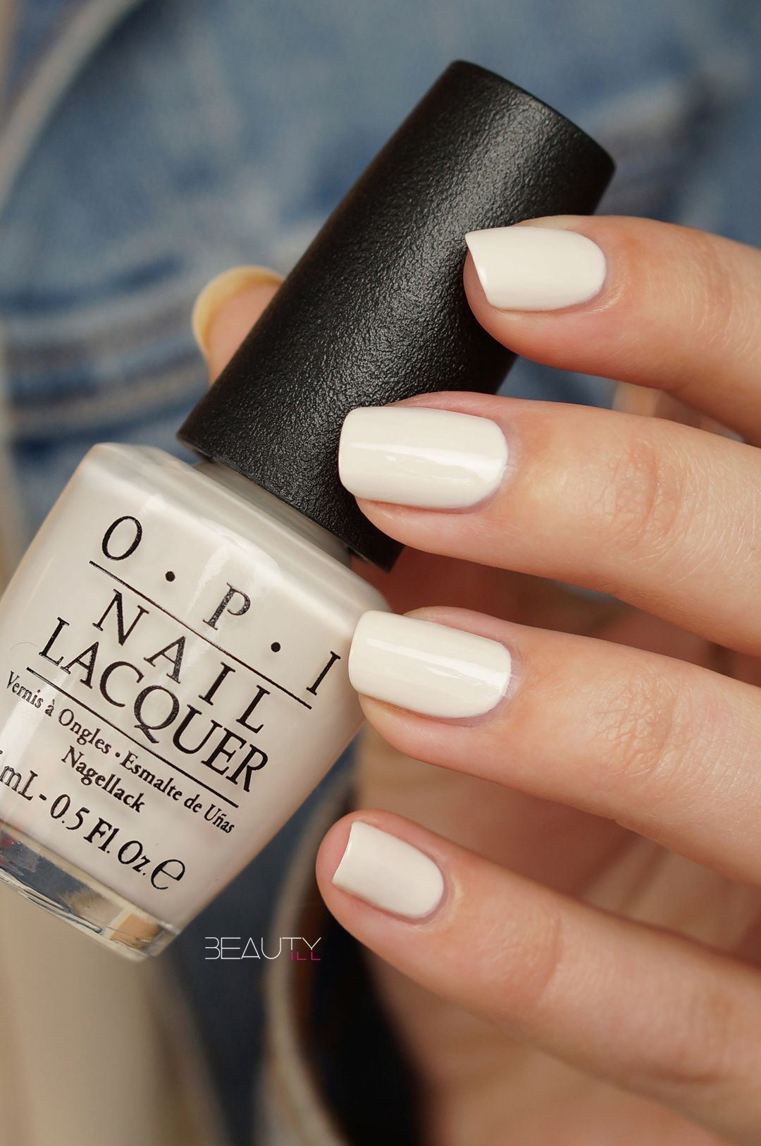 Opi White Gel Nail Polish: Opi-It's In The Cloud (3)