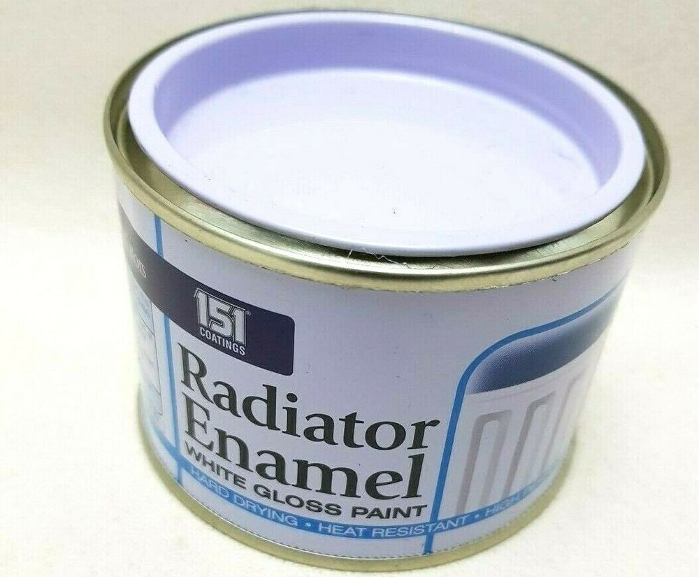 Radiator Gloss Paint White Tough Hard Drying Heat Resistant