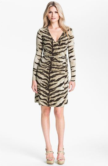 b6253719fe MICHAEL Michael Kors Tiger Print Wrap Dress available at Nordstrom $64.98