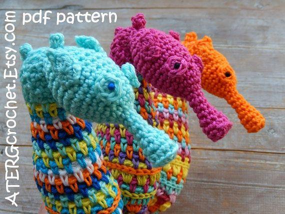Amigurumis Caballitos A Crochet : Ganchillo patrón de caballito de mar por por atergcrochet en etsy