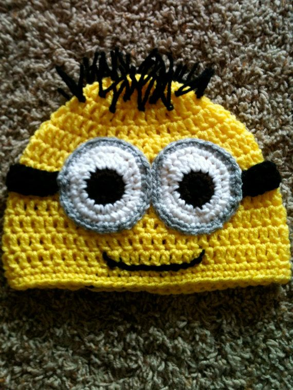 Minion from Despicable ME inspired Beanie PATTERN