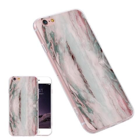 2016 New Fashion Pink Marble Painting Phone Case for iPhone 7 6 6S Plus for Samsung S6 S7 Edge Note 7 Soft TPU Frame Cover Coque