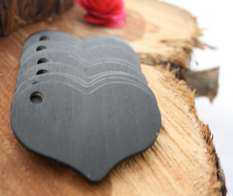 Chalkboard Heart gift tag - get wood cut out at any craft store and then add chalkboard paint for a similar effect...