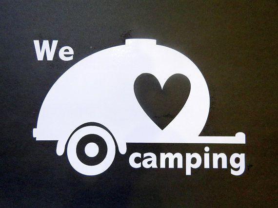 I love camping teardrop car window decal. Travel by liltinpurse