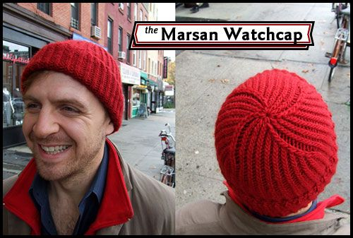 The Marsan Watchcap. I made this hat for my hubby years ago ...
