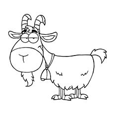 Top 25 Free Printable Goat Coloring Pages Online Cartoon Drawings Goat Cartoon Goat Art