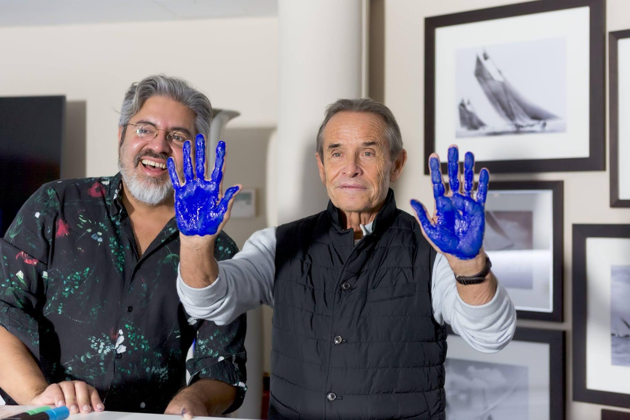 Jacky Ickx durant le 2ème WSLA Handprints Show, Les Oscars