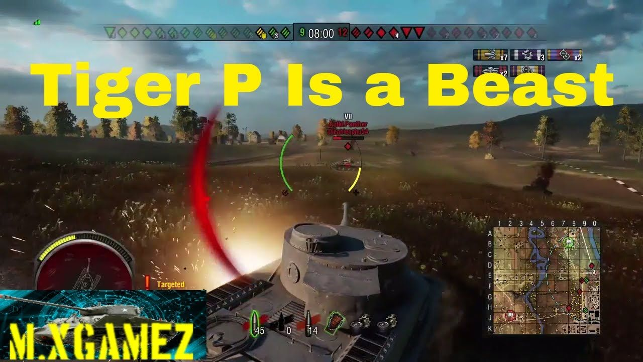 Tiger P Can Take Some Hits Its A Beast Tiger P Heavy Tank Platoon World Of Tanks Wot M Xgamez Youtube World Of Tanks A Beast