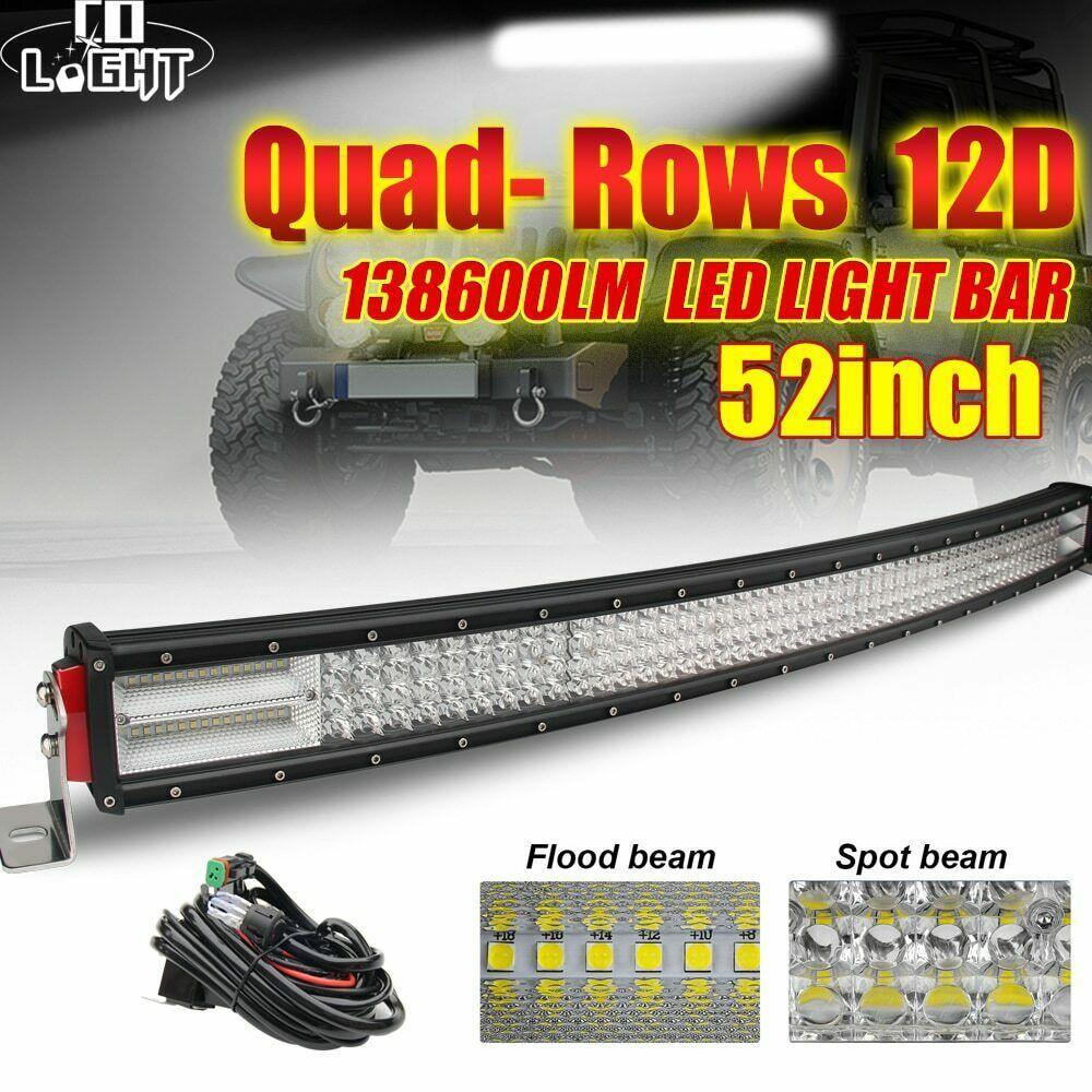 Offroad Led Light Bar 12d 924w 744w 564w 384w Led Bar Light Spot Flood Led Beams Colight Led Light Bars Offroad Led Bar Lighting