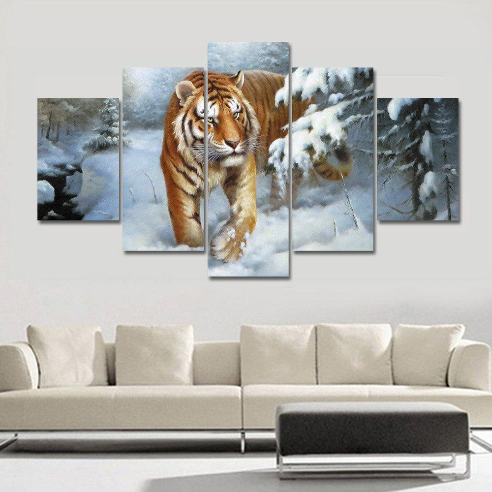 Large Oil Painting Tigers Painting Home Decor On Canvas Modern Wall Art Canvas Print Poster Canvas