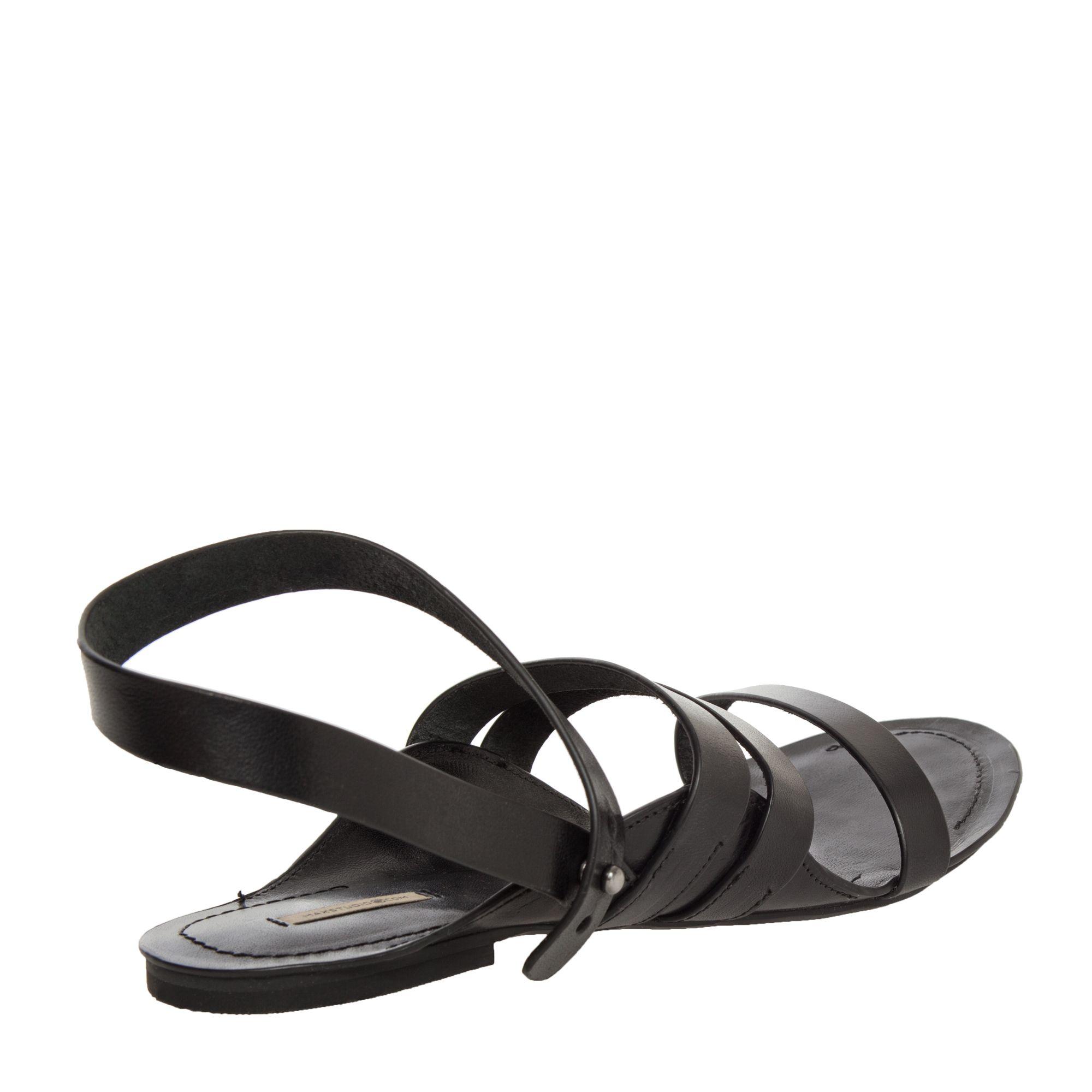 58e0021e314d05 Verdant – Three Strap Ankle Wrap Flat Sandals