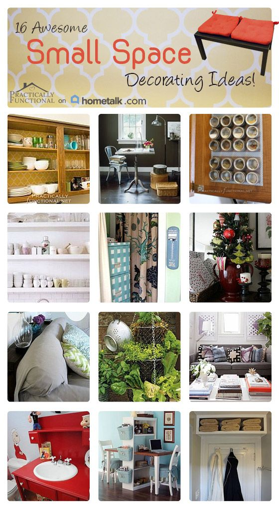 16 tips for decorating small spaces and