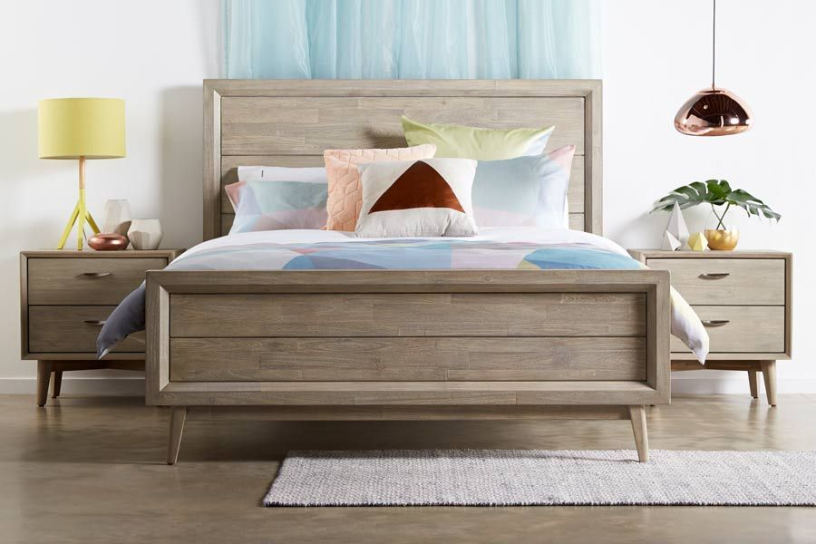 Celeste King Size Timber Bed Bedroom Sets Furniture Queen Bed