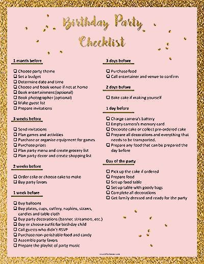 Photo of Party Planning Template
