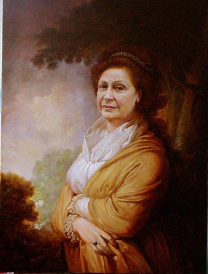"""Ritratti dell mio marito pittore russo O Suprunovskiy 2012-2013 La seria si chiama""""  Mie vicini- itagliani"""""""