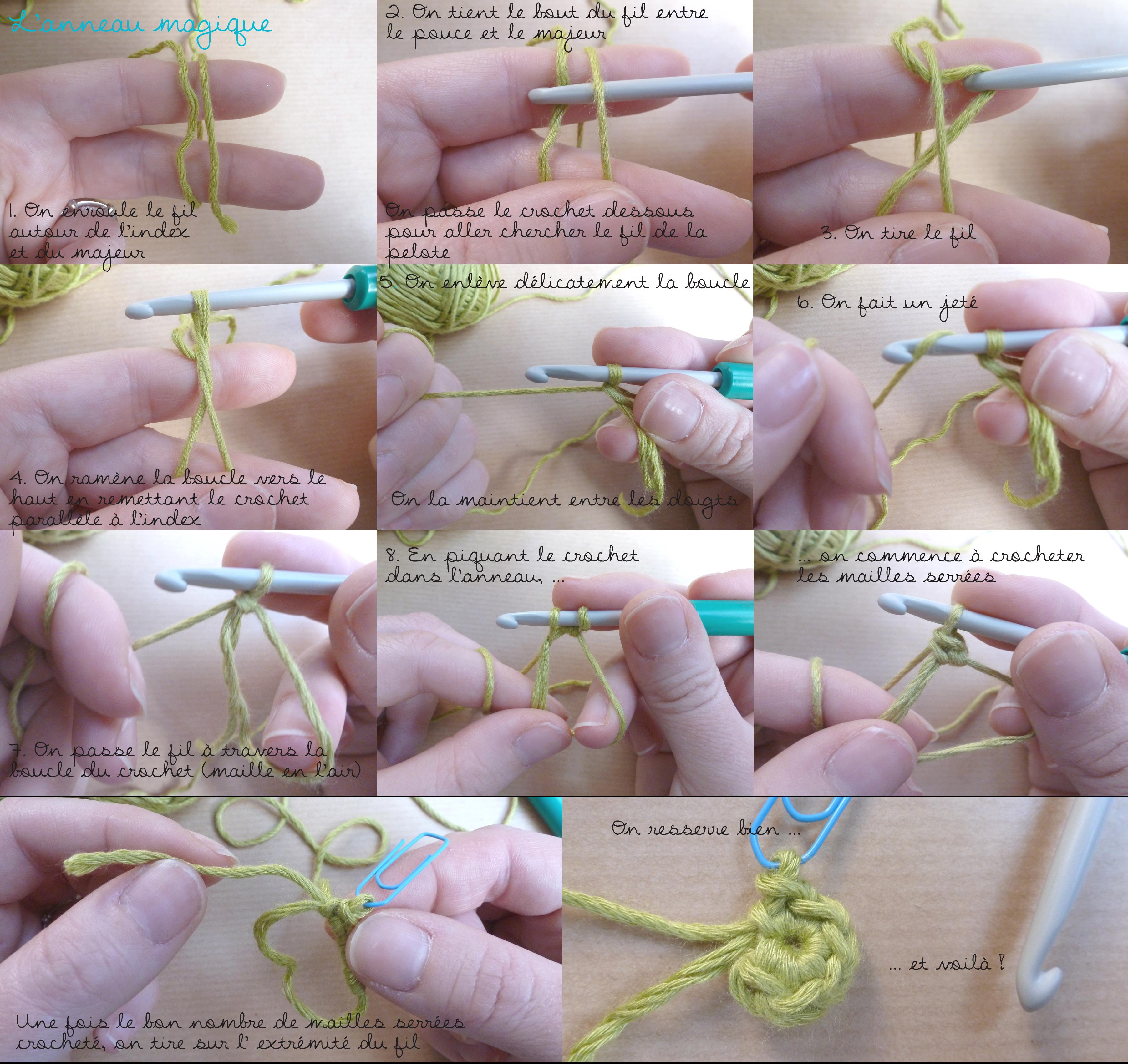 comment faire un cercle magique au crochet