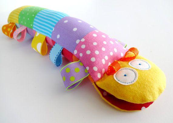 Caterpillar Softie Toy with Ribbons - PDF e-pattern | Amo las ...