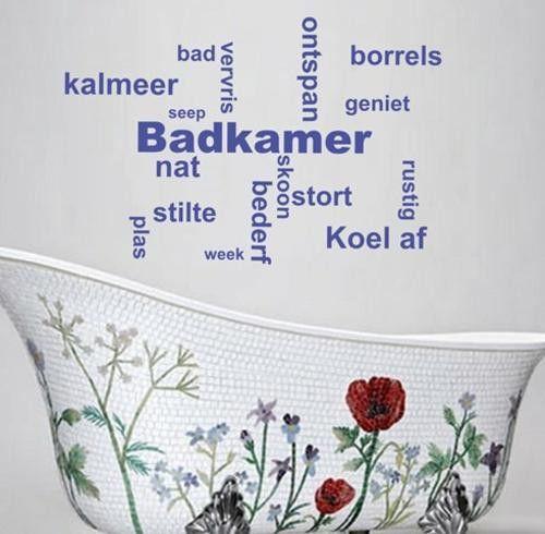 Afrikaans Badkamer Woorde Kwotasie Muurplakker Vinyl Decal Verskeie ...