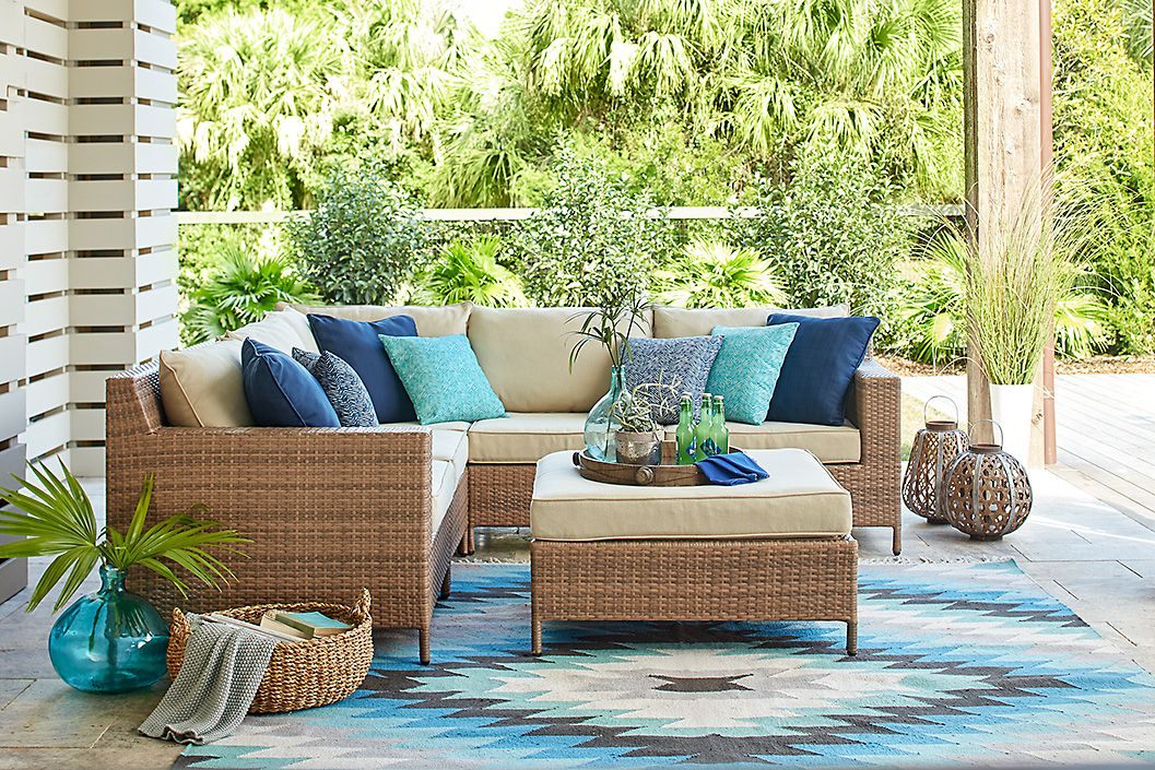 Valentina Blue Indoor Outdoor Rug Inspired By