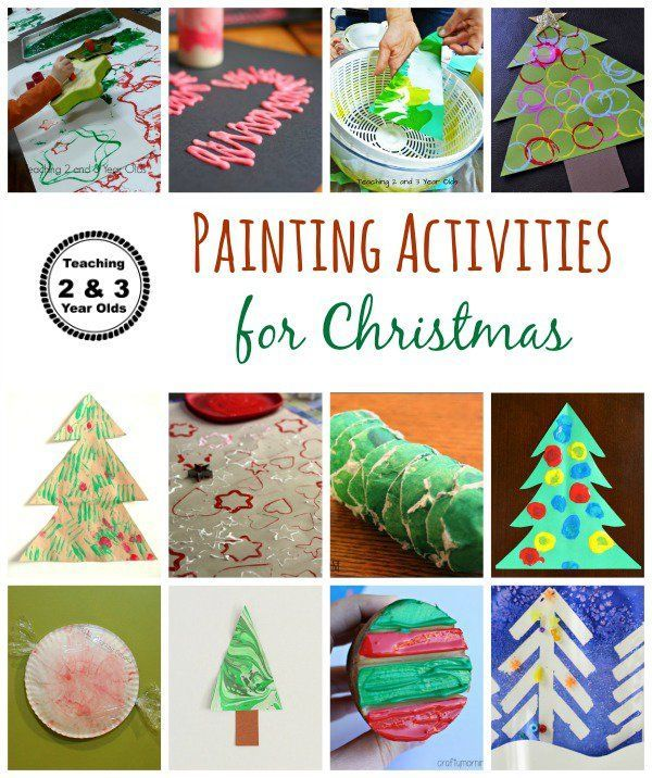 Christmas Craft Ideas For 3 Year Olds Part - 50: Christmas Painting Activities For Toddlers And Preschoolers - Teaching 2  And 3 Year Olds