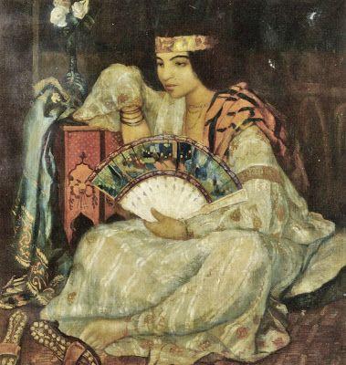 Émile Bernard (French artist, 1868-1941) Lady with a Fan oil on canvas