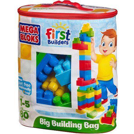 Mega Bloks Big Building Bag 80-Piece Classic Building Set - Walmart.com