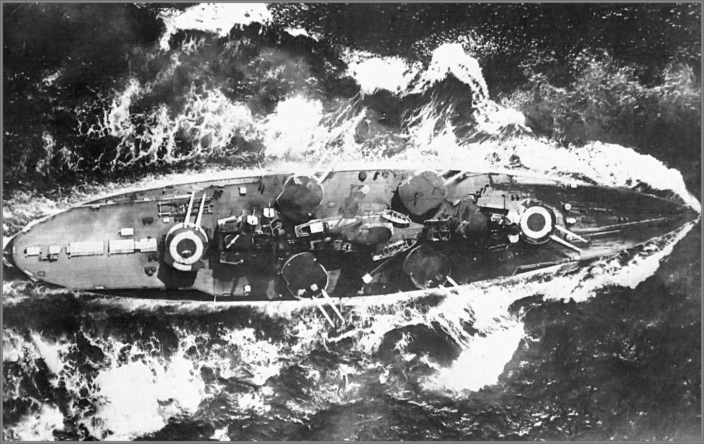 Italian Battleship Conte Di Cavour In 1938 Linienschiff