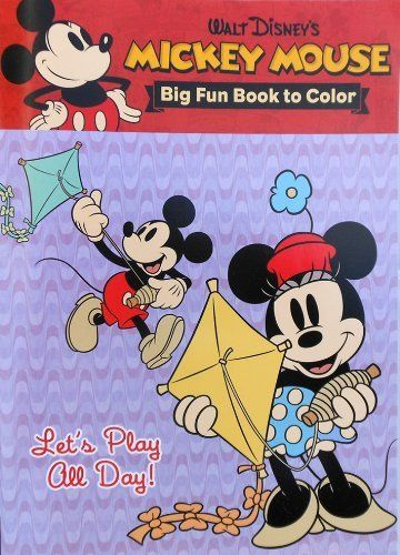 Disney Vintage Mickey Mouse And Minnie Coloring Book Lets Play All Day