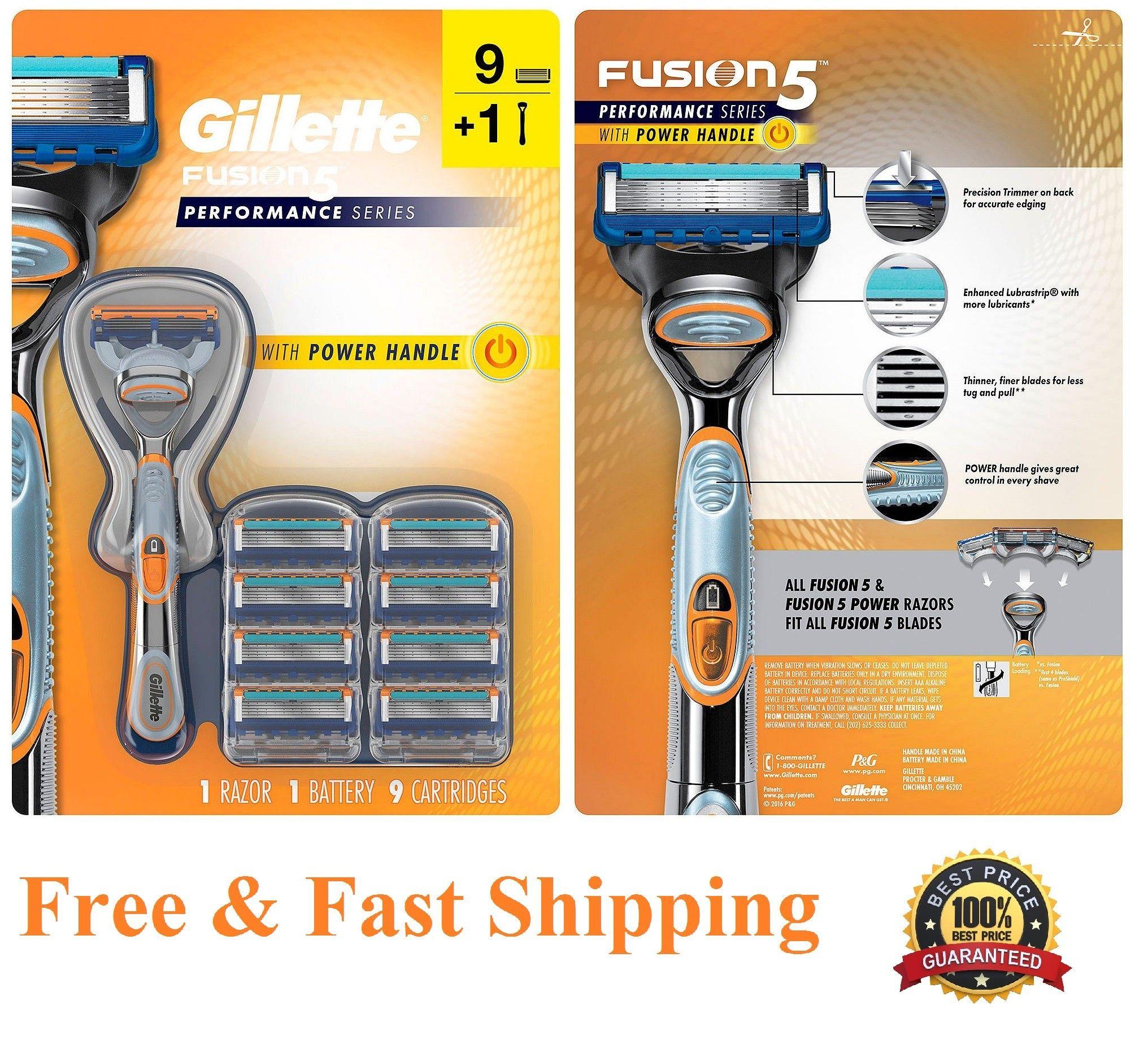 9 Gillette Fusion 5 Performance Power Razor Blades Refill Cartridges Gillette Fusion Razor Blade
