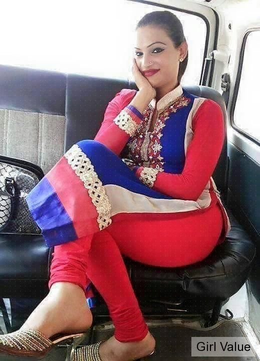 Girl in tight legging and kameez