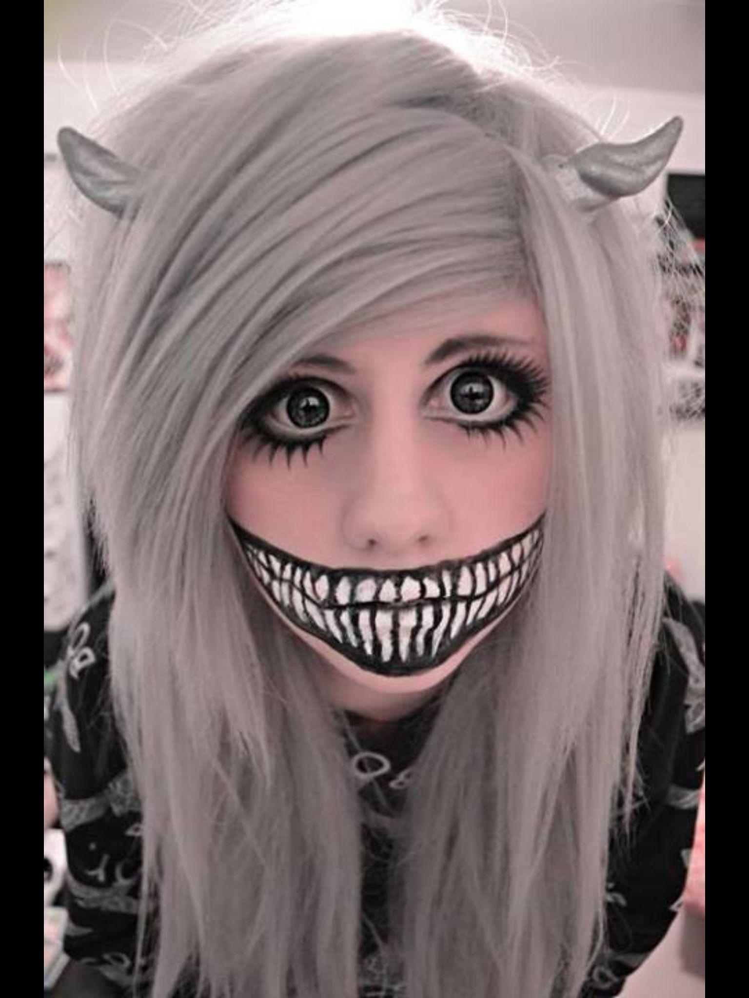 Demon makeup | HALLOWEEN | Pinterest | Demon makeup ...  Demon Halloween Makeup