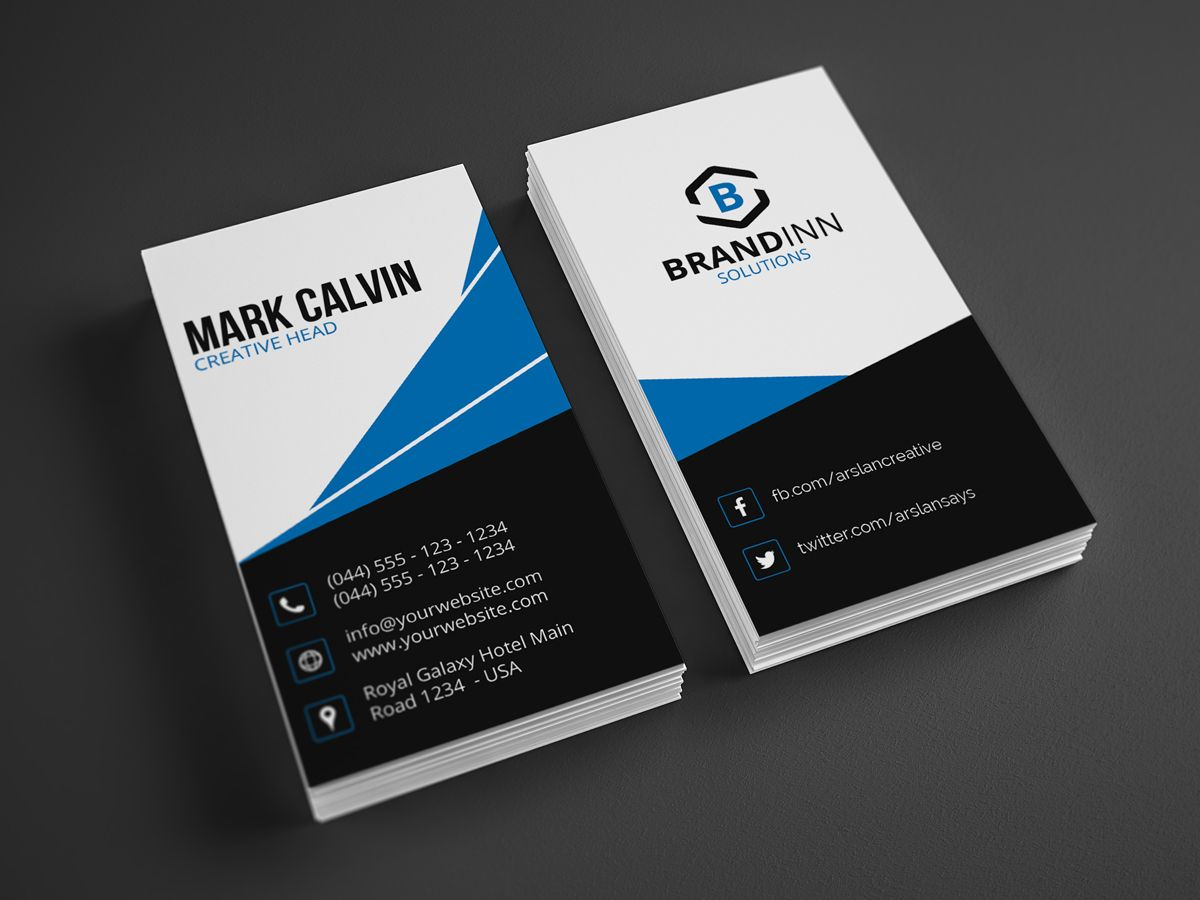 Modern Vertical Business Card 24 - http://graphicpick.com ...