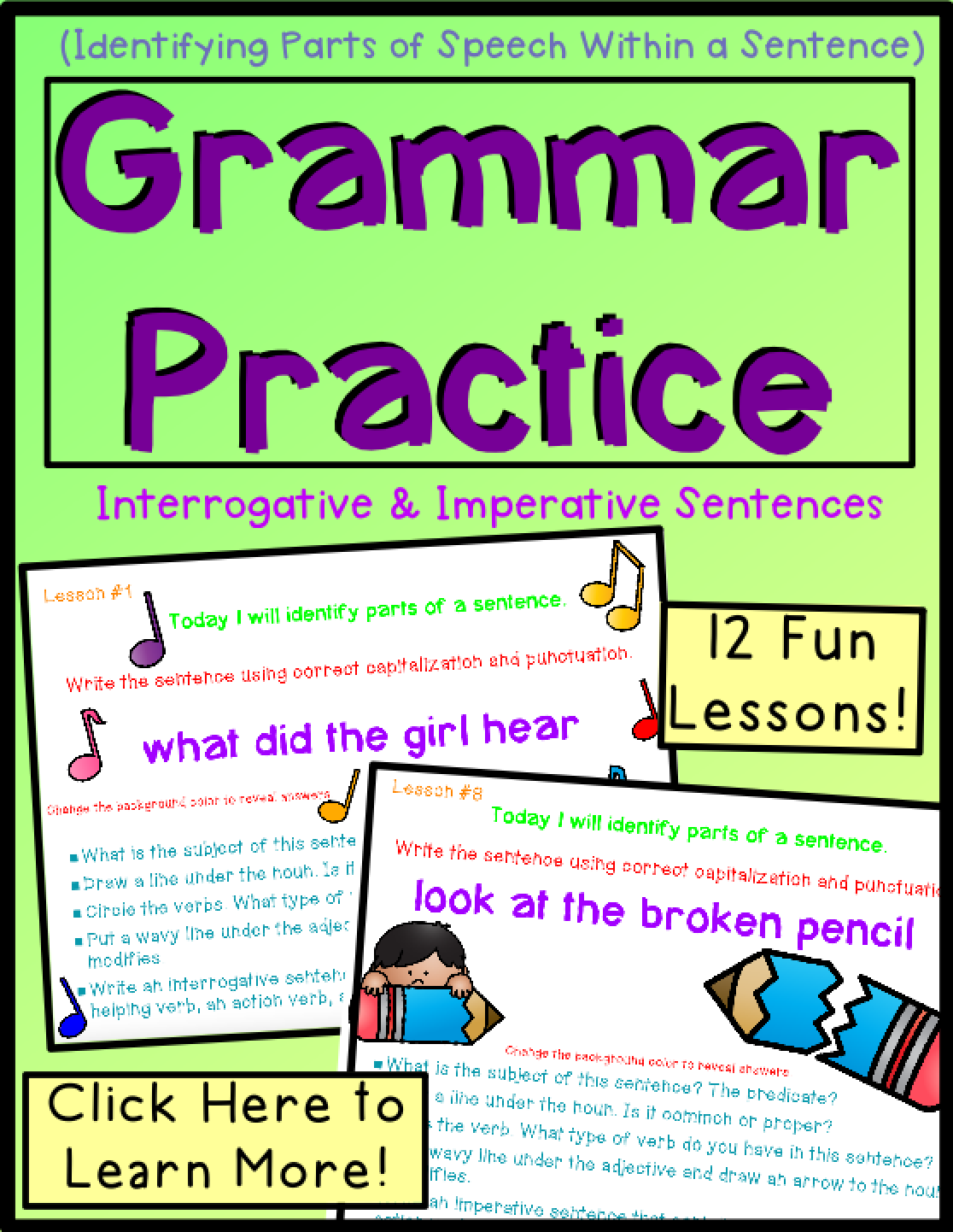 Daily Grammar Practice | Grammar Lessons Elementary ...