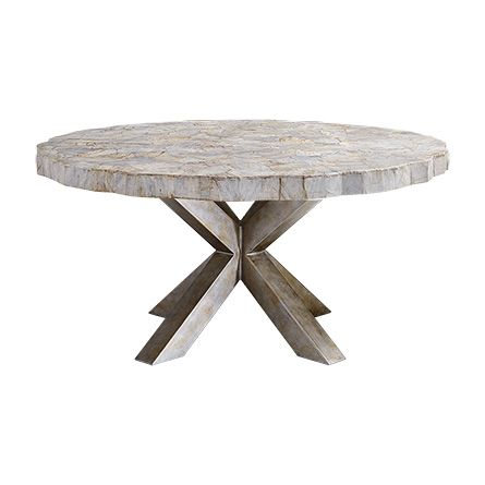 Petra 60 Quot Round Century Marble Dining Table In White