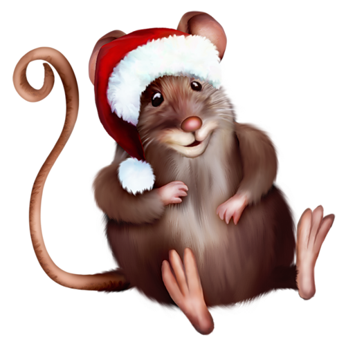 Mouse with Santa Hat Clipart Cartoon | ClipArt | Pinterest | Santa ...