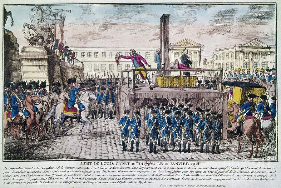 Public Execution Of Marie Antoinette On October 16 1793 C 1793