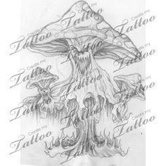 Marketplace Tattoo Evil Morbid trippy mushrooms #8654 | CreateMyTattoo ...