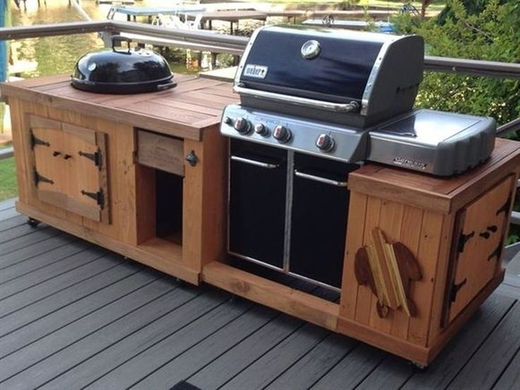 50 Comfy Backyard Kitchen For Bbq Ideas Cuisine Exterieure Avec Barbecue Grill Diy Table Grill