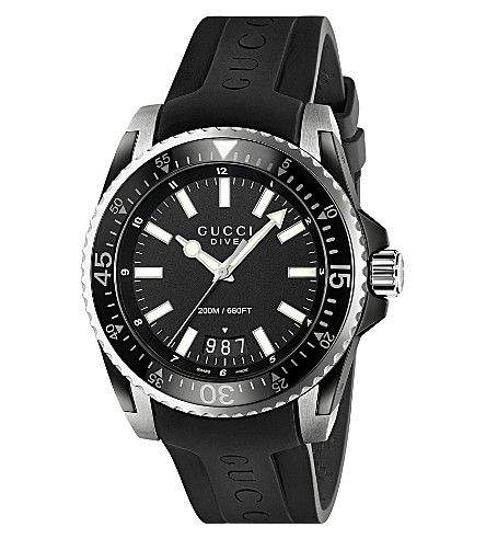 gucci ya136204 dive stainless steel and rubber watch gucci mens gucci ya136204 dive stainless steel and rubber watch gucci mens fashion watches