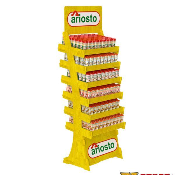 Photo of Espositore porta specie in legno, con piani inclianti | Cemab