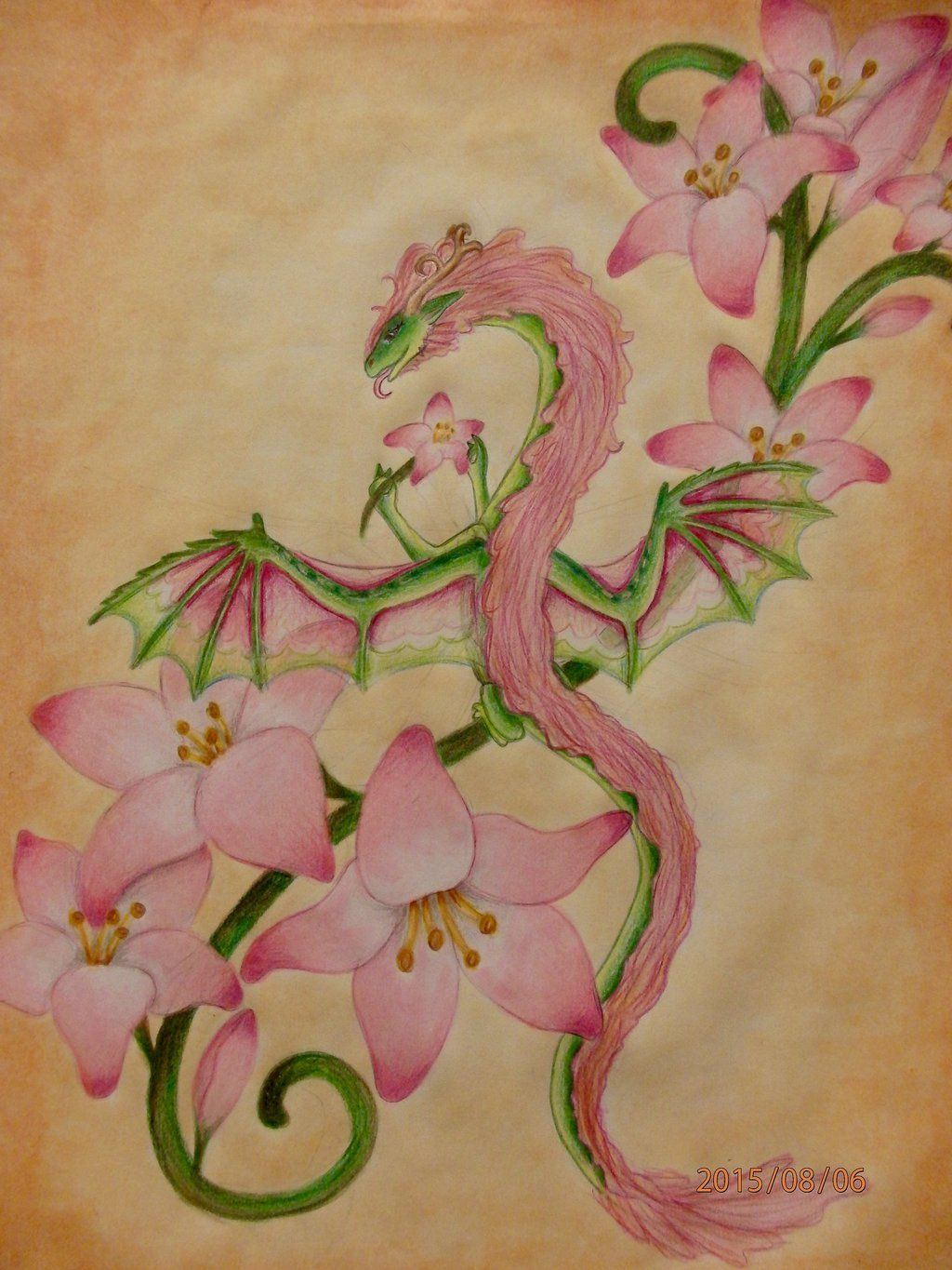 Dragon Tattoo With Flowers: Flower Dragon - Google Search