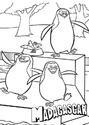 Laminas Para Colorear Coloring Pages Los Pinguinos De