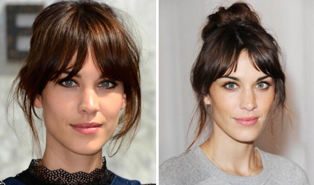 how to cut side swept bangs with a middle part