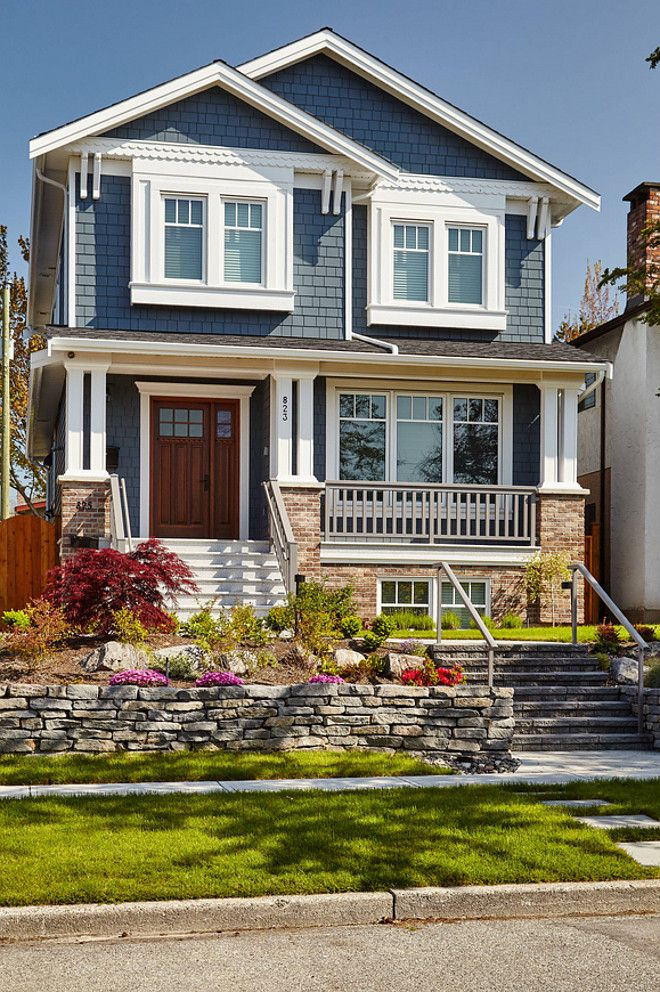 Home Ideas Exterior Homes And House Beautiful: Blue Exterior Paint Color: James Hardie Evening Blue. Convex Development.