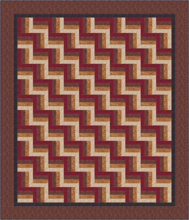 Looking For An Easy Quilt Pattern Youll Love Rail Fence Rail
