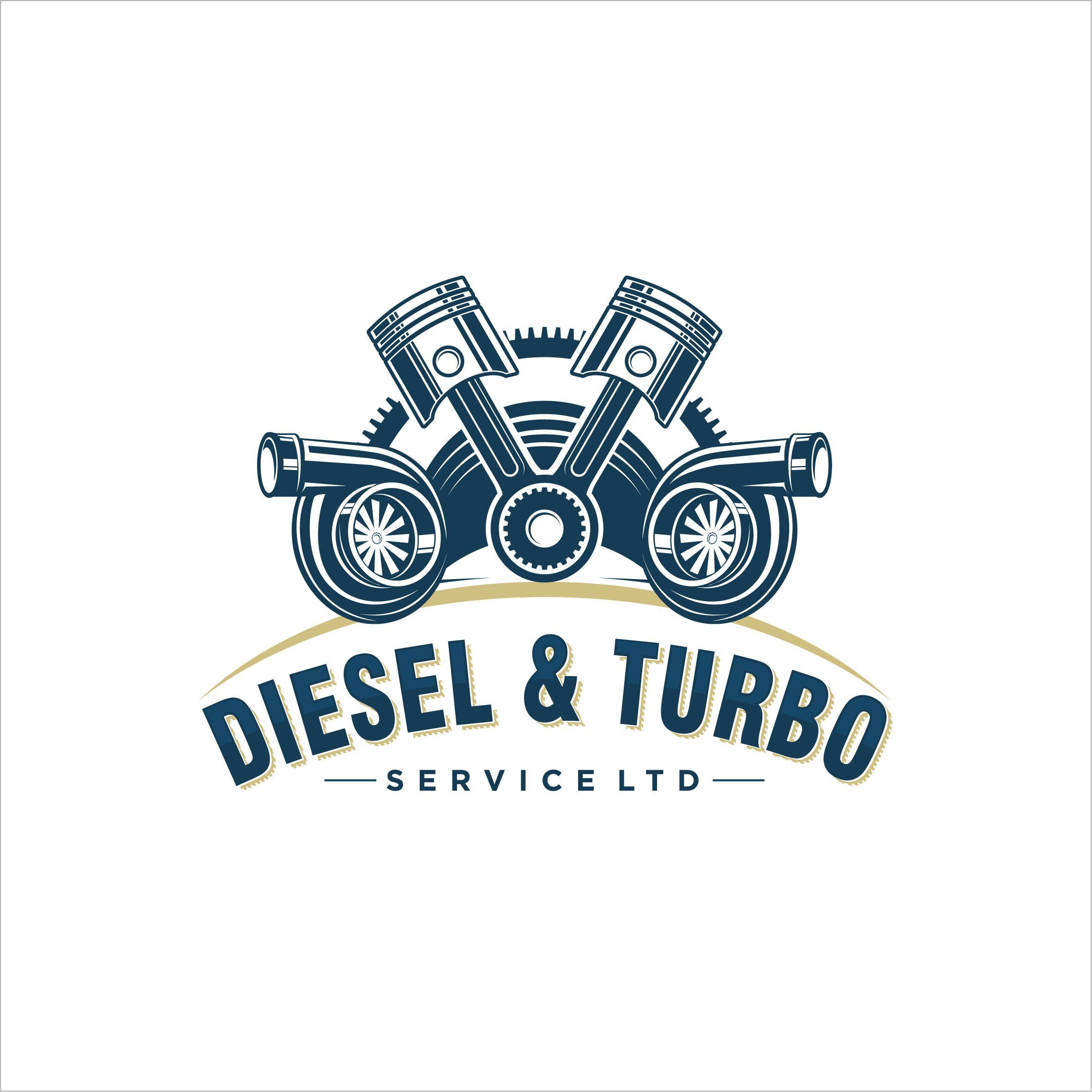 Diesel & Turbo Logo Design automotive logo piston