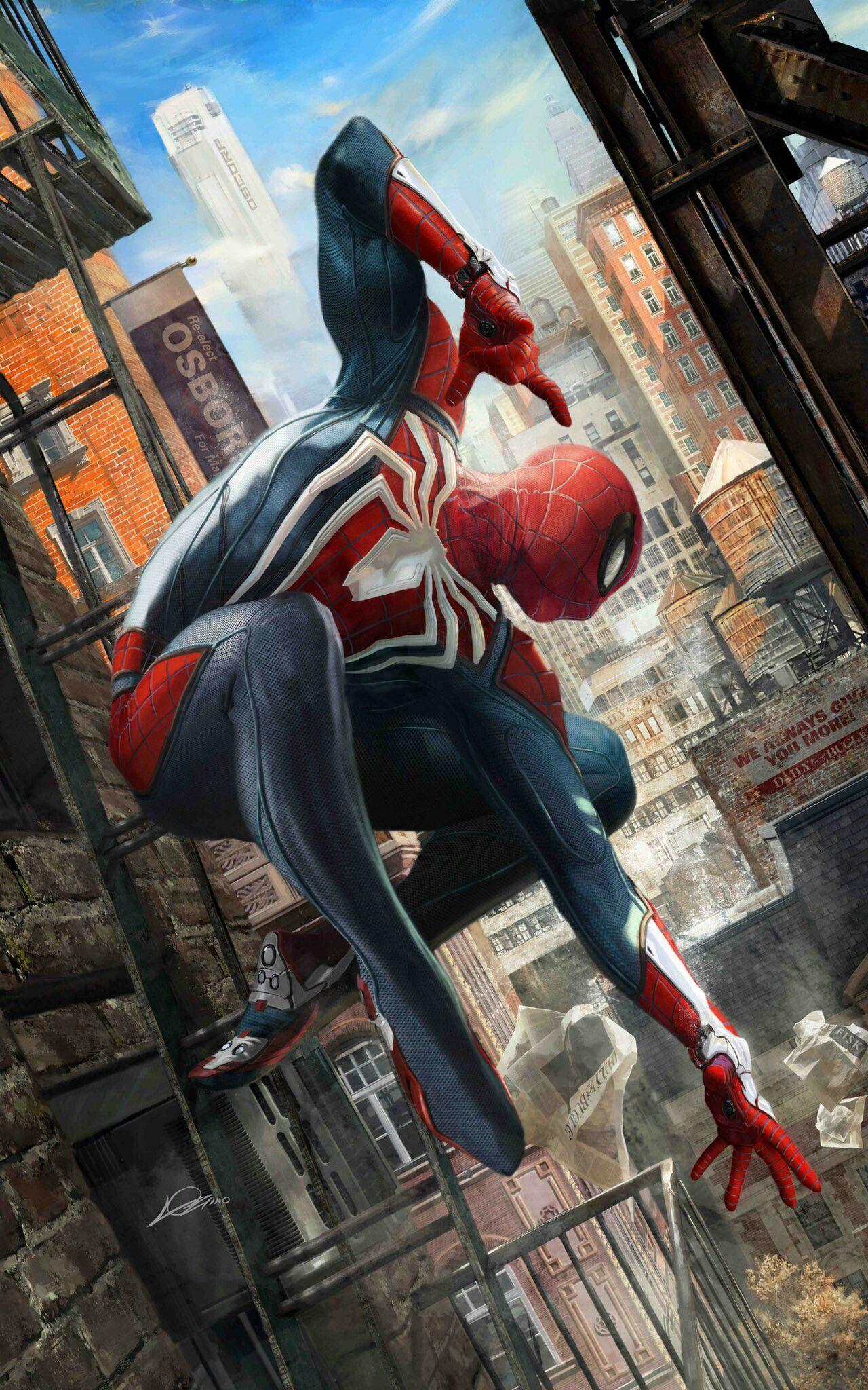 SpidermanPS4 Spider man playstation, Marvel comics