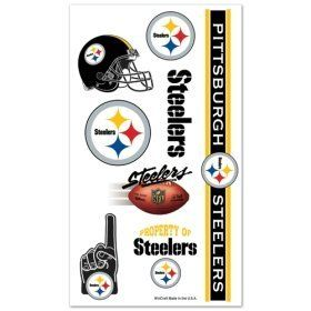WinCraft NFL Pittsburgh Steelers Decal Multi Use Fan 3 Pack Team Colors One Size