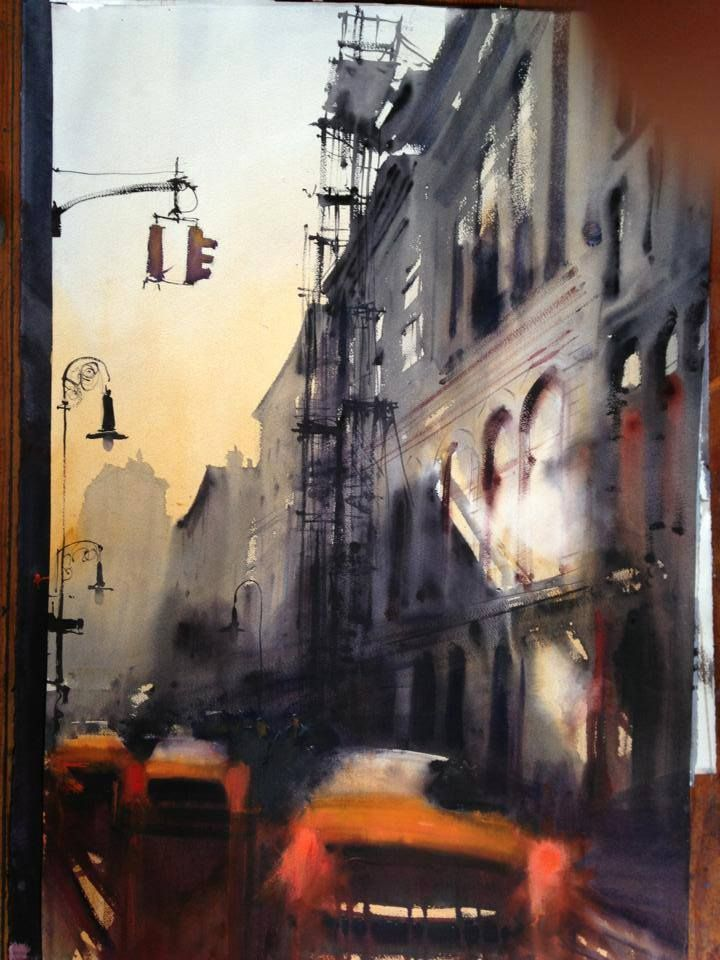 Alvaro Castagnet Uruguay Watercolor Landscape Cityscape Drawing City Art