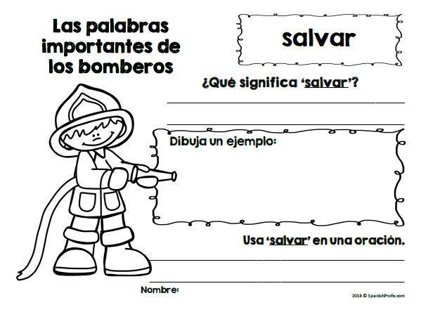 Bomberos y prevencion de incendios (Fire Safety in Spanish